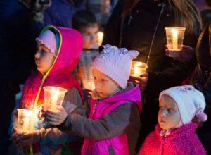 Воспитанники детского дома в Светлогорье поучаствовали в акции «Свеча Памяти»